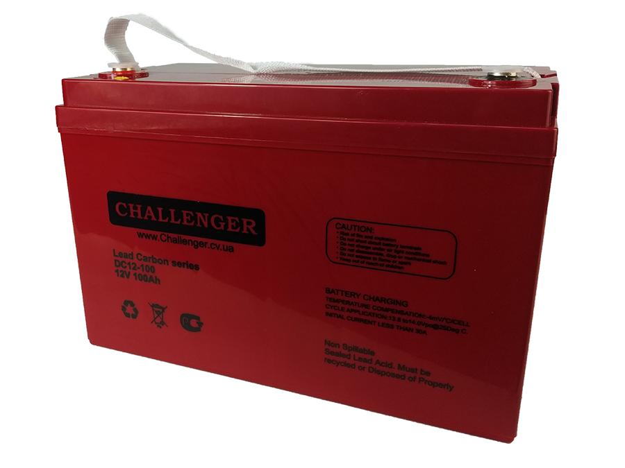 Аккумулятор свинцово-углеродный - 100 Ач 12В Challenger DC12-100С