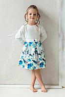 Платье для девочки на любой день с цветочным принтом, фото 1