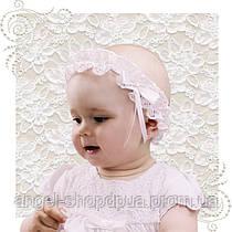 Детская повязка для крестин гипюр Масик, очень милая красивая