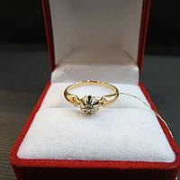 Золотое Кольцо с бриллиантом размер 18
