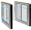 Турникет SWEEPER S-1 (правая + левая стойки), крашеная сталь (RAL 9005/на выбор), столешницы - черное стекло