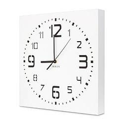 Настенные часы ручной работы Kauza - 3D цифры Белые (kau_0003)