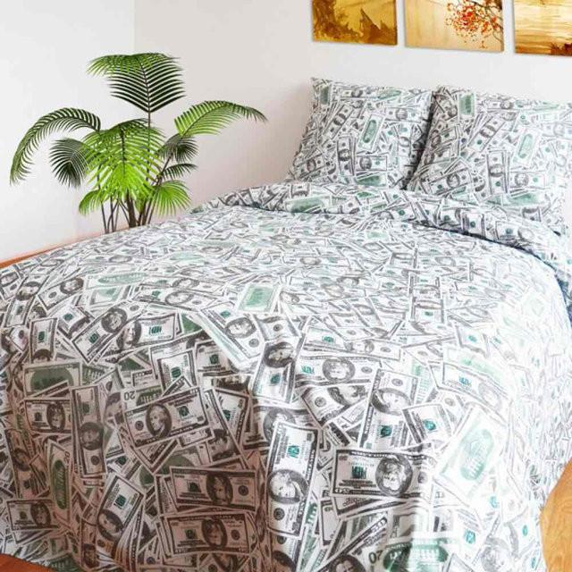 Комплект постельного белья евро Доллар