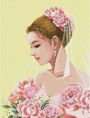 Рисование камнями Ласко Портрет Невесты