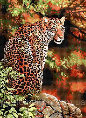 Ласко набор для вышивания стразами Леопард