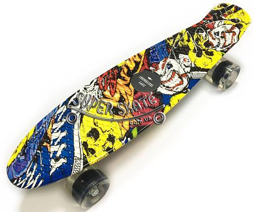 Скейт Пенни борд Penny Print Led 22 Joker - Пенні борд Джокер 54 см, фото 2