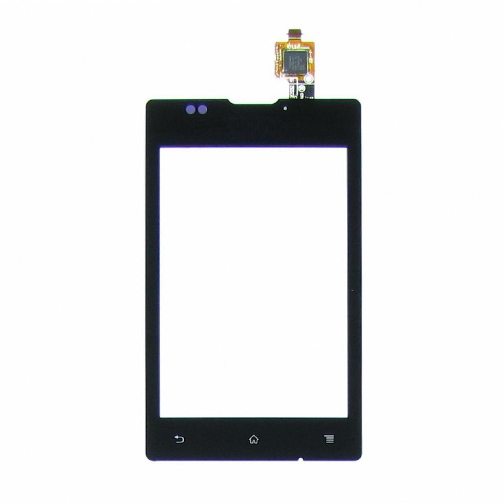 Тачскрин для Sony C1503 Xperia E/C1504/C1505/C1604/C1605, черный Оригинал (тестирован)