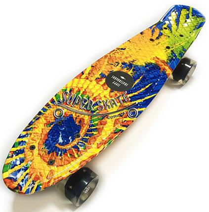 Скейт Пенни борд Penny Board Print Led 22 The Sun - Солнце 54 см, фото 2