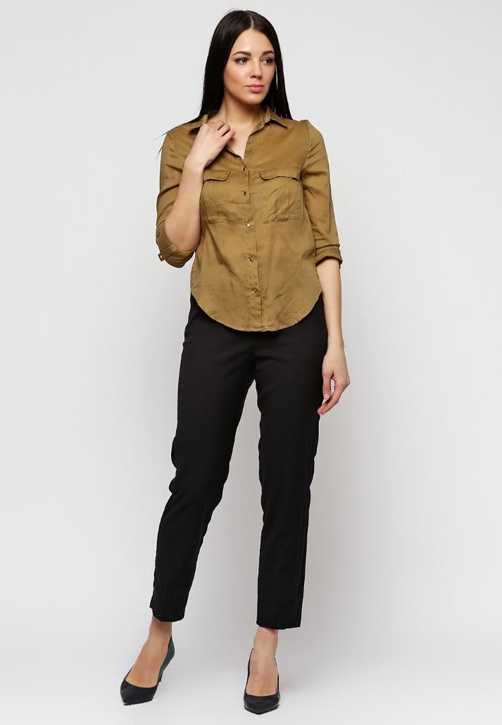 ca779dcc165c Женские черные классические укороченные брюки H&M