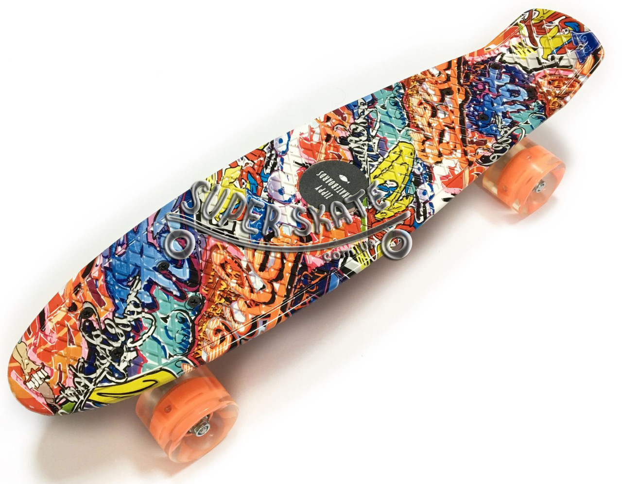 Скейт Пенни борд Penny Board Print Led 22 Graffiti - Граффити 54 см