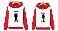 Толстовка TRUE LOVE красно-белая, фото 1