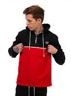 Чёрно-красная куртка ветровка анорак Fred Perry есть опт, фото 1