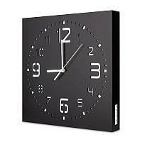 Настенные часы ручной работы Kauza - 3D цифры Черные (kau_0001)