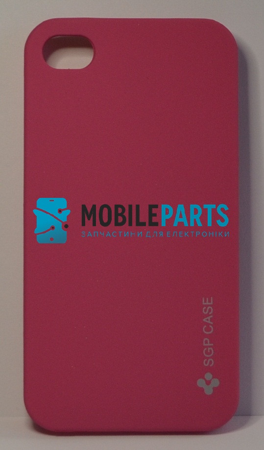 Пластиковый Чехол-накладка Fashion Classic (SGP Case) для iPhone 4 | 4S (Розовый)