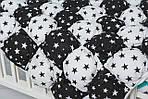 """Детское воздушное одеяло-коврик Бом-бон с принтом """"Звезды черно-белые"""", фото 3"""