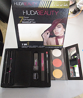 Косметический набор HudaBeauty 7 в 1, набор декоративной косметики худабьюти
