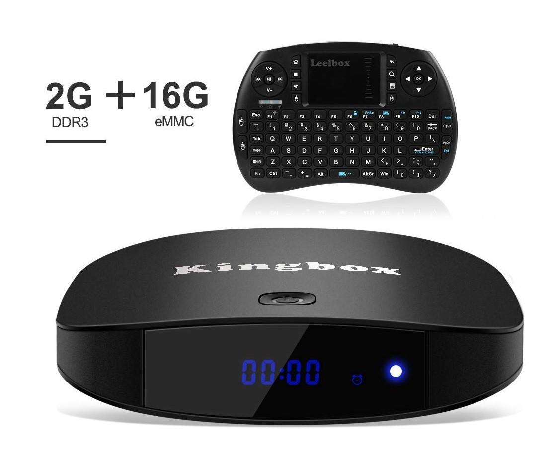"""Приставка Smart TV Kingbox K2 Plus Android 7.1/4K/S905X/64Bit/2GB/16GB Nand """"Over-Stock"""""""