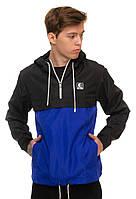 Черно-синяя куртка ветровка анорак Ястребь есть опт, фото 1