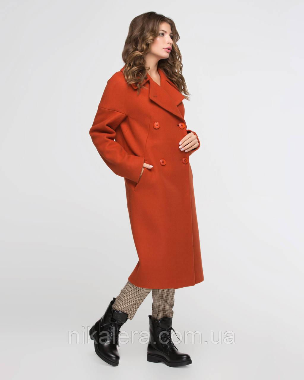 Классическое женское пальто с английским воротом рр 44-54