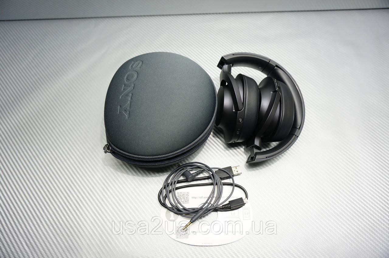 Наушники Sony MDR-100ABN Wireless NC Black  hi res Bluetooth шумоподавление гарантия кредит