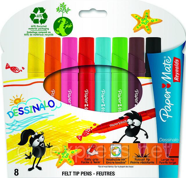 Dessinalo Фломастеры детские набор 8 шт Paper Mate