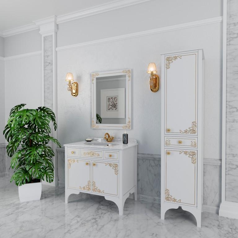 Тумба для ванной комнаты Marsan Jacqueline 900 белая