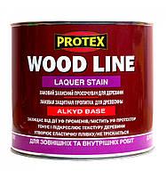 Пропитка защитная лаковая для древисины Wood Line,TM Protex,Светлый орех,(0.7 л)