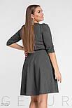 Платье А-силуета серого цвета большого размера, фото 3