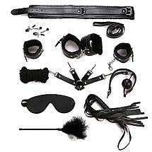 Набор бдсм фетиш BDSM 10 в 1 Чёрный, фото 2