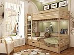 """Двухъярусная кровать """"Дуэт"""" из массива бука 90*200, Эстелла (Украина), фото 3"""