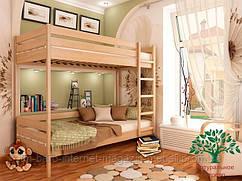 """Двухъярусная кровать """"Дуэт"""" из щита бука 80*190, Эстелла (Украина)"""