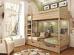 """Двухъярусная кровать """"Дуэт"""" из щита бука 80*190, Эстелла (Украина), фото 3"""