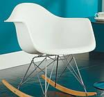 """Кресло-качалка """"Лаунж"""" (ПЛ белый), Domini (Прайз), Eames, фото 3"""
