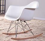 """Кресло-качалка """"Лаунж"""" (ПЛ белый), Domini (Прайз), Eames, фото 4"""