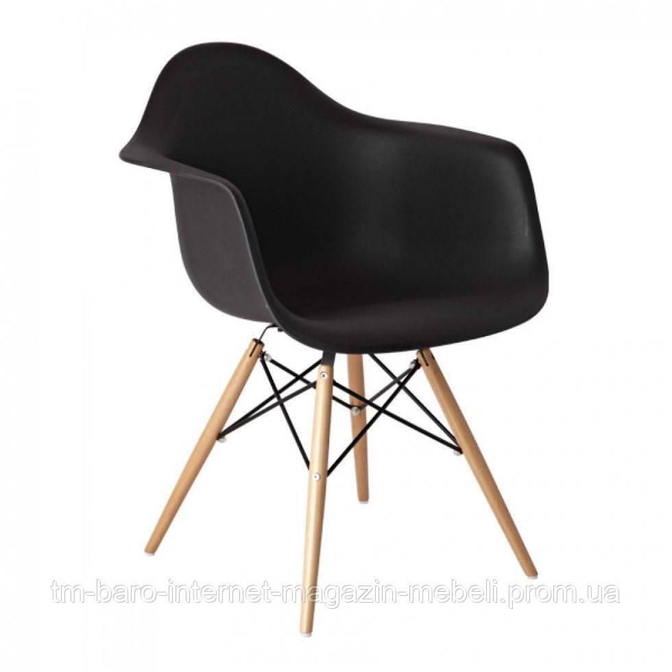 "Кресло ""Прайз"" (ПЛ черный ольха), Domini (Eames)"
