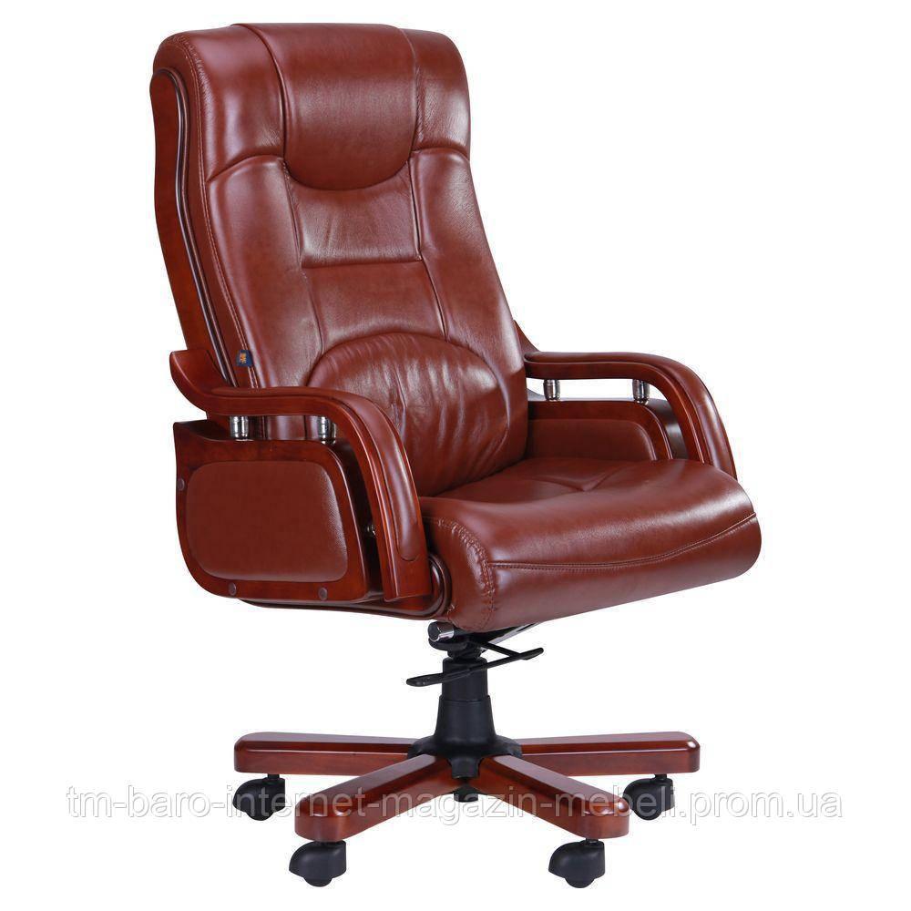 Кресло Ричмонд, кожа коричневая, Бесплатная доставка