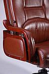 Кресло Ричмонд, кожа коричневая, Бесплатная доставка, фото 5