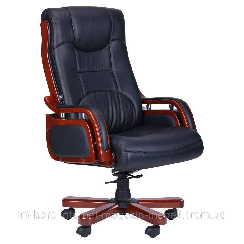 Кресло Ричмонд, кожа черная (642-B+PVC), Бесплатная доставка