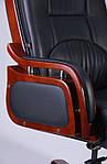 Кресло Ричмонд, кожа черная (642-B+PVC), Бесплатная доставка, фото 5