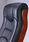 Кресло Ричмонд, кожа черная (642-B+PVC), Бесплатная доставка, фото 7