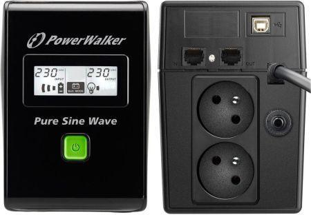 ИБП (UPS) линейно-интерактивный PowerWalker VI 800 SW/IEC (10120062) Б/У