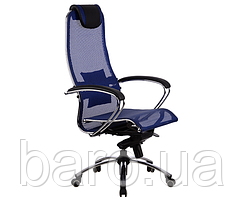 Кресло Самурай С1, сетка, синий. Samurai S1 Blue