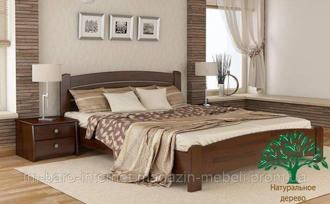 """Кровать двуспальная """"Венеция Люкс"""" из щита бука 180*200, Эстелла (Украина)"""