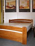 """Кровать двуспальная """"Венеция"""" из щита бука 160*200, Эстелла (Украина), фото 2"""