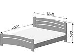 """Кровать двуспальная """"Венеция"""" из щита бука 160*200, Эстелла (Украина), фото 7"""