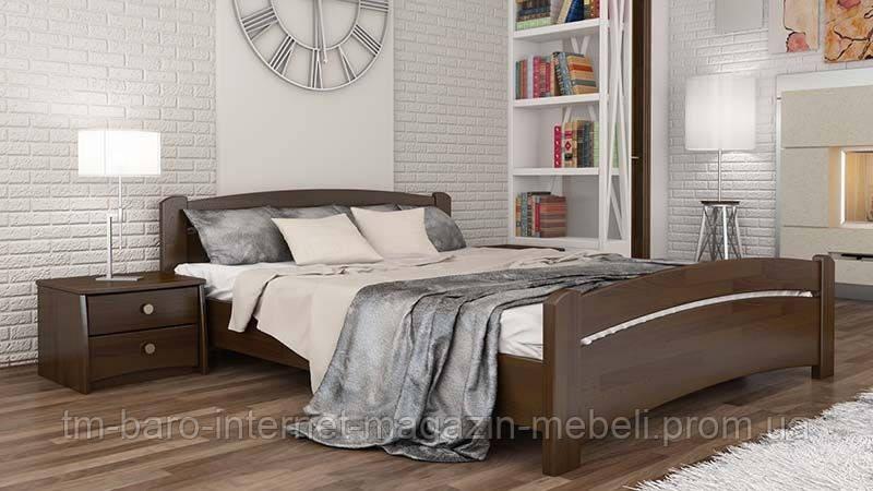 """Кровать двуспальная """"Венеция"""" из щита бука 180*200, Эстелла (Украина)"""