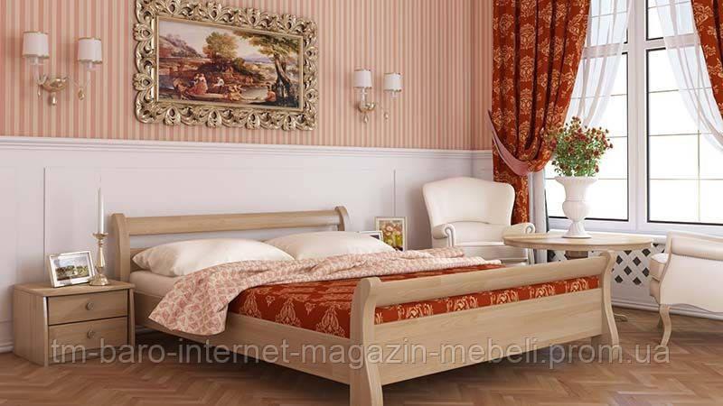 """Кровать двуспальная """"Диана"""" из щита бука 160*200, Эстелла (Украина)"""