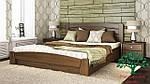 """Кровать двуспальная с подъёмным механизмом """"Селена Аури"""" из щита бука 160*200, Эстелла (Украина), фото 4"""