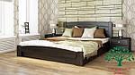 """Кровать двуспальная с подъёмным механизмом """"Селена Аури"""" из щита бука 160*200, Эстелла (Украина), фото 8"""