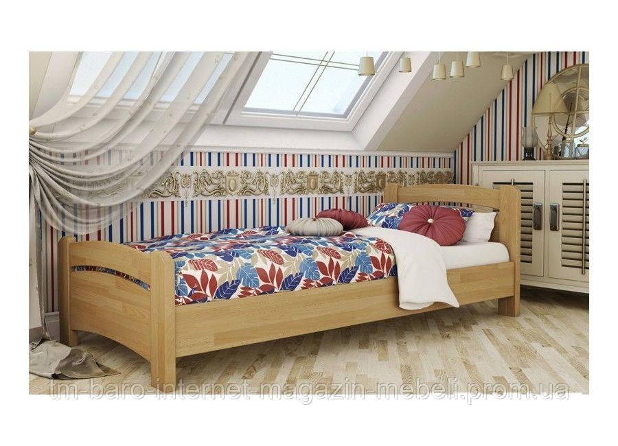 """Кровать односпальная """"Венеция"""" из щита бука 90*200, Эстелла (Украина)"""